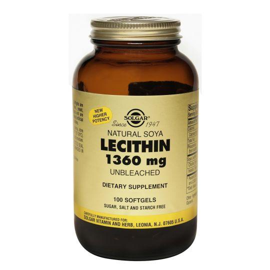 Натуральный соевый лецитин (100 капсул)