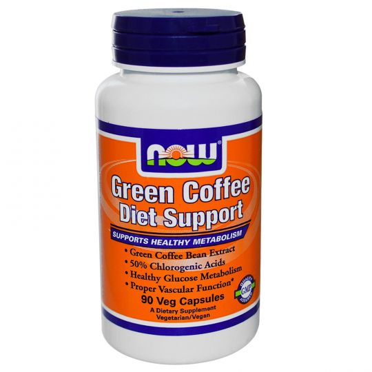Now Foods Green Coffee Diet Support (Зеленый кофе) 90 капс