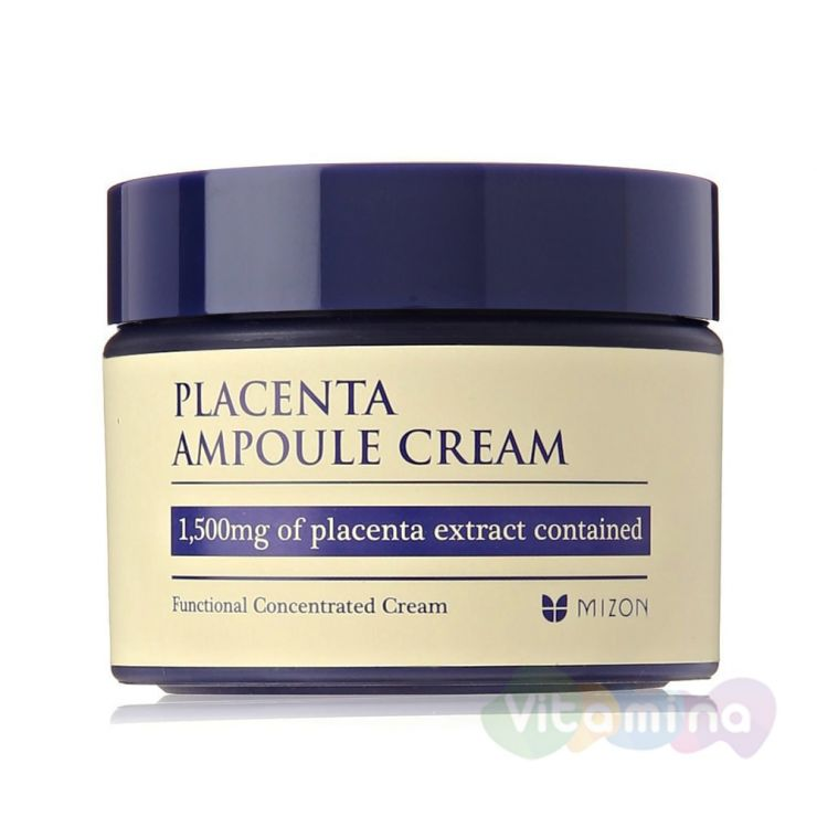 Крем для лица с плацентарным протеином - Placenta Ampoule Cream Mizon