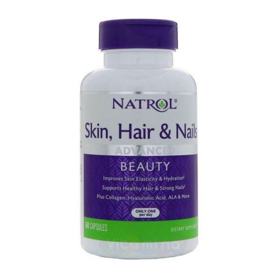Natrol Skin Hair Nails Витамины для кожи, волос и ногтей