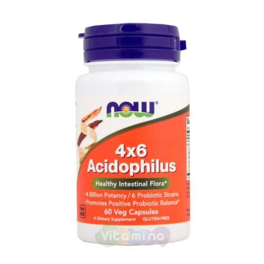 4х6 Acidophilus (Ацидофилус пробиотик) 60 капс.
